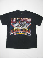 vintage 90s Harley Motorcycles One Way Ride 1992 Holoubek black cotton t-shirt M
