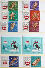 Hungary - 1964 Winter Olympics in Innsbruck PLUS 2 MS – UM (MNH) (R3)