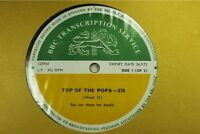 BBC278 Transcription Disc TOP POPS John Lennon Yoko Ono jimmy page led zeppelin