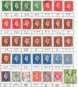 King George VI Collection of Stamps. All PERFINS