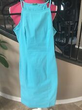 Benetton Women's Blue Fitted Dress Size XS Stretchy Cotton