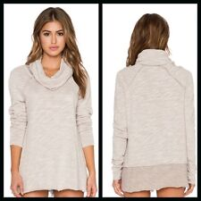 Free People New Cocoon Cowl Pullover Top Tunic NWT in Oatmel XS/S