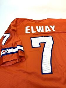 Champion NFL Denver Broncos John Elway 7 Orange Football Jersey AFC West Vintage