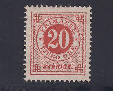 Sweden Sc 33 MLH. 1877-79 20ö vermilion Numeral, perf 13, VF