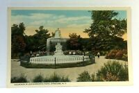 Syracuse New York Leavenworth Park Fountain Vintage Postcard