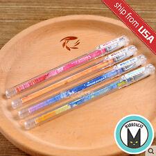 US Lot 4pcs Cartoon Animal Stars 0.35 Fine Tip Gel ink Pens Pen Kawaii Cute M&G