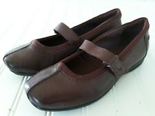 Clarks Haydn Bliss Mary Jane Shoes Womens 6.5 Wide Burgundy Comfort