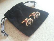 Jaguar cufflinks 24ct gold plated xj xf xk new gift bag quality 24k uk seller