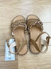 Girls Brown Sandals Shoes From Sainsburys TU NEW Size 12 💕☀️