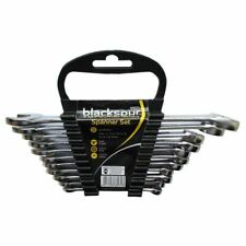 Blackspur WR271 11 Piece Combination Spanner Set Strong & Durable Chrome Plated