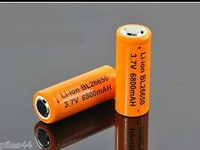 4 Accus 26650 Rechargeable 6800mAh Pile 3.7V Li-ion Accu Batterie Battery
