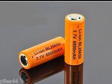 2 Accus 26650 Rechargeable 6800mAh Pile 3.7V Li-ion Accu Batterie Battery