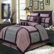 Morgan Luxury 8 PC Bed in a Bag Includes Comforter Skirt Shams and Pillows