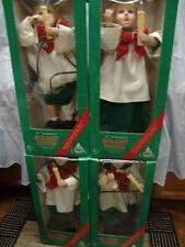 "CHRISTMAS FAMILY 24"" CAROLERS LIGHT MOTION 2 BOYS/2 GIRLS ALL BLONDE ORIG BOXES"