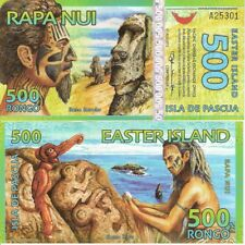 EASTER ISLAND 500 Rongo Fun-Fantasy Note 2012 Private Issue Banknote Carvings