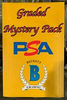 MCC GRADED MYSTERY PACKS - 1 PSA/BGS/SGC PER PACK - NFL,NBA,MLB ROOKIES!! *READ*
