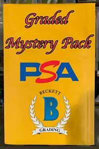 MCC GRADED MYSTERY PACKS - 1 PSA/BGS/SGC PER PACK - NFL,NBA,MLB ROOKIES!! *READ*