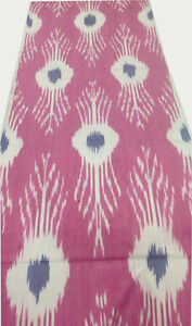 Ikat Fabric, Ikat Fabric by the yard, Hand Woven Fabric, Uzbek Fabric, Pink Ikat