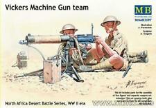 Masterbox 1:35  WW2 British Desert rats Vickers Machine Gun Team