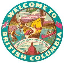British Columbia - Canada  Vintage 1950's Style Travel Decal  Sticker