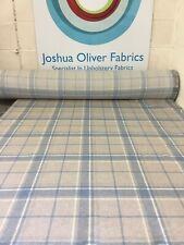 Laura Ashley, Highland Check, Seaspray, Upholstery Fabric, Free P&P