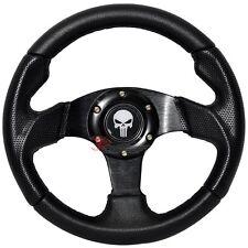 280mm JDM Racing Sport Steering Wheel Black PVC Leather Carbon Look Punisher
