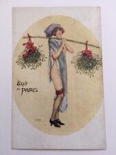 Antique Postcard - Raphael Kirchner - PARIS CHRISTMAS