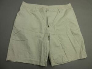 COLUMBIA SIZE 40X10 MENS TAN 100% COTTON OUTDOOR CASUAL HIKING CHINO SHORTS T344