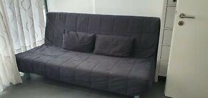 Beddinge IKEA Sofa aufklappbar Schlafsofa mit Bezug und Kissen