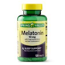 New Spring Valley Melatonin Tablets 10 Mg 120 Ct