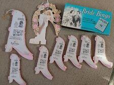 Lot Vtg Beistle Wedding Shower Bells Tissue Paper, Hallmark Die-Cut, Bingo Game