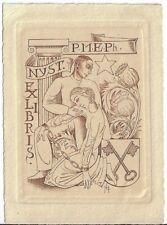 HUBERT LEVIGNE: Exlibris für P. M. E. Ph. Nyst