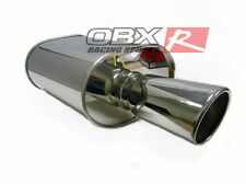 """OBX Universal HR08-2.5"""" Single-Out Seam Type Oval Muffler 2.5"""" Inlet"""