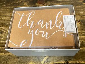 Gartner Studios Blank Gold Thank You Cards & White Envelopes 40 Count NEW
