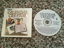 Calendar Creator Version 8 2001 Broderbund Program CD Expressit CC8-INS