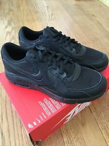 Nike Air Max Excee GS Triple Black-Noir New In Box Size 7Y