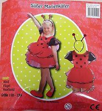 Kostüm Süßer Marienkäfer 110-134 Kleid Fasching Karneval Kinder 5-9 Jahre PARTY