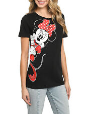 Officially Licensed Disney Women's Minnie Mouse  T-Shirt Leaning Short Sleeve