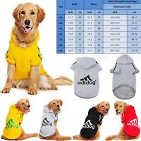 Large Breed Dog Sweater Jacket Dogs Pet Winter Medium Warm Hoodie Adidog Sport