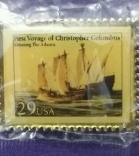 USPS First Voyage Of Christopher Columbus Crossing The Atlantic 29 Cents Pinback