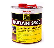 CLEAR PENETRATING SEALER DURAM S900 FOR CONCRETE POROUS TILES BRICK TILES 4L NEW