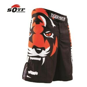 The Tiger Muay Thai Men MMA Fight Pants Boxing Shorts Trunk Boxeo Kickboxing