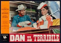 T114 Fotobusta Dan The Terrible Rock Hudson Julia Adams Robert Ryan