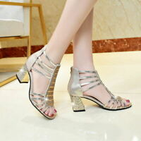 Thick heel sandals new female  summer with fish mouth wild women's fashion shoes