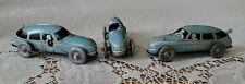 3 Vintage Japan Wind Up On Off Switch Litho Race Cars Blue #3