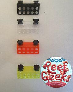 Magnetic Frag rack, 10 hole*NEW ACRYLIC FRAG RACK**. Zoa,coral frag plug.