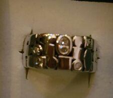 """Ring PIERRE LANG """"Hundertwasser"""",Steinchen, PL-Größe XII,rhodiniert, NEU mit OVP"""