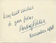 Audrey Fildes Kind Hearts and Coronets Stage British Actress Signed Autograph