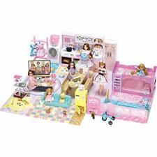 Takara Tomy Licca Doll Licca-chan Room w/ Furniture Ems w/ Tracking New