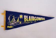 VINTAGE BLAIRGOWRIE VICTORIA AUSTRALIA SOUVENIR TOURIST PENNANT FELT CLOTH FLAG